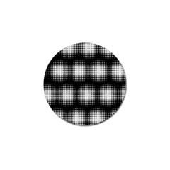 Black And White Modern Wallpaper Golf Ball Marker by Simbadda