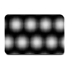 Black And White Modern Wallpaper Plate Mats by Simbadda