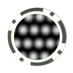 Black And White Modern Wallpaper Poker Chip Card Guard by Simbadda