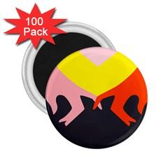 Ring Finger Romantic Love 2 25  Magnets (100 Pack)