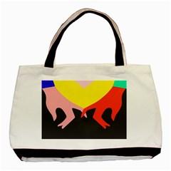 Ring Finger Romantic Love Basic Tote Bag by Alisyart