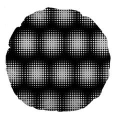 Black And White Modern Wallpaper Large 18  Premium Flano Round Cushions by Simbadda