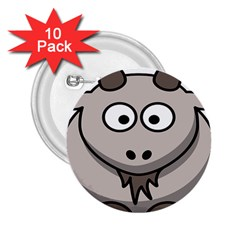 Goat Sheep Animals Baby Head Small Kid Girl Faces Face 2 25  Buttons (10 Pack)  by Alisyart