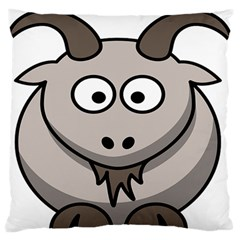 Goat Sheep Animals Baby Head Small Kid Girl Faces Face Large Flano Cushion Case (two Sides) by Alisyart