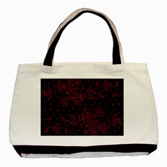 Floral Pattern Background Basic Tote Bag (two Sides) by Simbadda