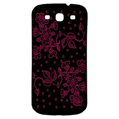 Floral Pattern Background Samsung Galaxy S3 S Iii Classic Hardshell Back Case by Simbadda