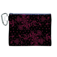 Floral Pattern Background Canvas Cosmetic Bag (xl) by Simbadda