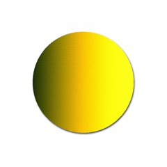 Yellow Gradient Background Magnet 3  (round) by Simbadda