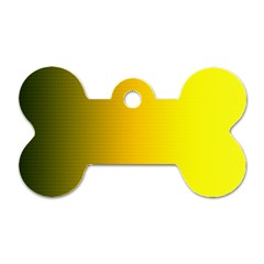 Yellow Gradient Background Dog Tag Bone (two Sides) by Simbadda