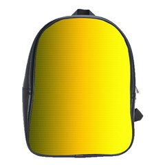 Yellow Gradient Background School Bags(large)  by Simbadda