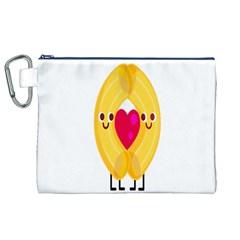 Say Pasta Love Canvas Cosmetic Bag (xl) by Alisyart