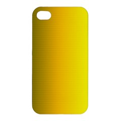 Yellow Gradient Background Apple Iphone 4/4s Hardshell Case by Simbadda