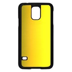 Yellow Gradient Background Samsung Galaxy S5 Case (black) by Simbadda
