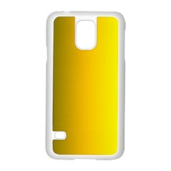 Yellow Gradient Background Samsung Galaxy S5 Case (white) by Simbadda
