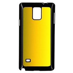 Yellow Gradient Background Samsung Galaxy Note 4 Case (black)