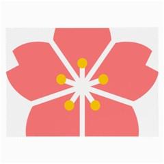 Sakura Heart Guild Flower Floral Large Glasses Cloth (2 Side) by Alisyart
