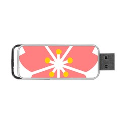 Sakura Heart Guild Flower Floral Portable Usb Flash (two Sides) by Alisyart