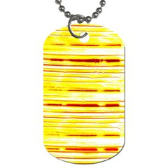 Yellow Curves Background Dog Tag (one Side) by Simbadda