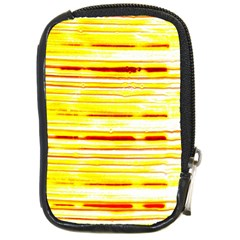 Yellow Curves Background Compact Camera Cases by Simbadda