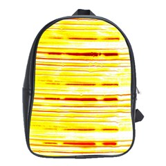 Yellow Curves Background School Bags (xl)  by Simbadda