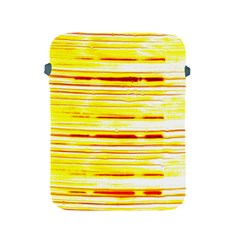 Yellow Curves Background Apple Ipad 2/3/4 Protective Soft Cases by Simbadda