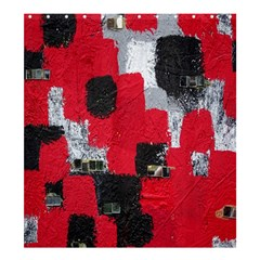 Red Black Gray Background Shower Curtain 66  X 72  (large)  by Simbadda