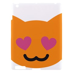 Smile Face Cat Orange Heart Love Emoji Apple Ipad 3/4 Hardshell Case by Alisyart
