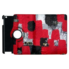 Red Black Gray Background Apple Ipad 3/4 Flip 360 Case by Simbadda