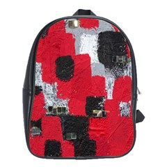 Red Black Gray Background School Bags (xl)  by Simbadda