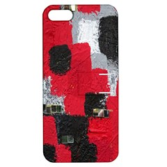 Red Black Gray Background Apple Iphone 5 Hardshell Case With Stand by Simbadda