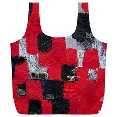 Red Black Gray Background Full Print Recycle Bags (l)  by Simbadda