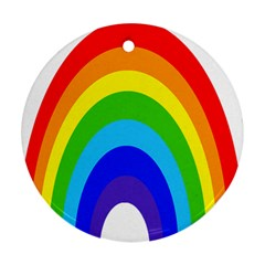 Rainbow Round Ornament (two Sides) by Alisyart