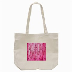 Pink Curtains Background Tote Bag (cream)