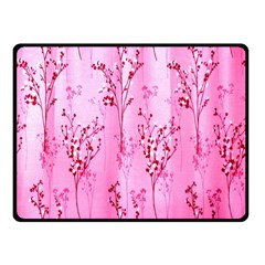Pink Curtains Background Fleece Blanket (small) by Simbadda