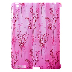 Pink Curtains Background Apple Ipad 3/4 Hardshell Case (compatible With Smart Cover) by Simbadda