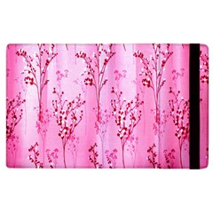 Pink Curtains Background Apple Ipad 2 Flip Case by Simbadda