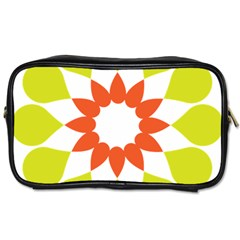 Tikiwiki Abstract Element Flower Star Red Green Toiletries Bags 2 Side by Alisyart