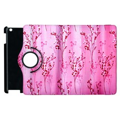 Pink Curtains Background Apple Ipad 2 Flip 360 Case by Simbadda