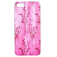 Pink Curtains Background Apple Iphone 5 Hardshell Case With Stand by Simbadda