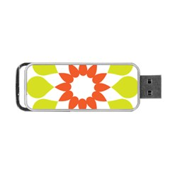 Tikiwiki Abstract Element Flower Star Red Green Portable Usb Flash (one Side) by Alisyart