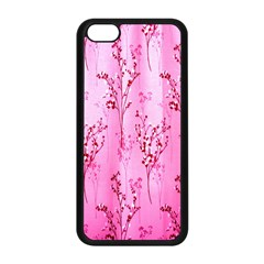 Pink Curtains Background Apple Iphone 5c Seamless Case (black) by Simbadda