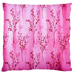 Pink Curtains Background Standard Flano Cushion Case (one Side) by Simbadda