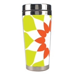 Tikiwiki Abstract Element Flower Star Red Green Stainless Steel Travel Tumblers by Alisyart