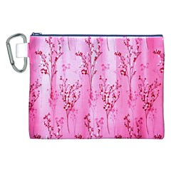 Pink Curtains Background Canvas Cosmetic Bag (xxl) by Simbadda