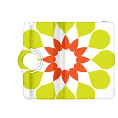 Tikiwiki Abstract Element Flower Star Red Green Kindle Fire Hdx 8 9  Flip 360 Case by Alisyart