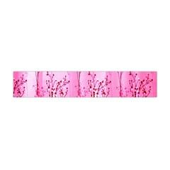 Pink Curtains Background Flano Scarf (Mini) by Simbadda