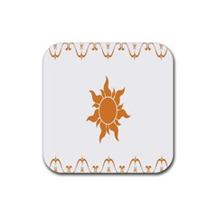 Sunlight Sun Orange Rubber Square Coaster (4 Pack)  by Alisyart