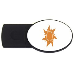 Sunlight Sun Orange Usb Flash Drive Oval (4 Gb) by Alisyart