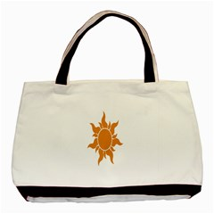 Sunlight Sun Orange Basic Tote Bag (two Sides) by Alisyart