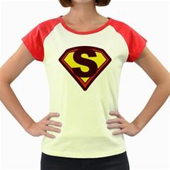 Super Women Women s Cap Sleeve T Shirt (colored) by pushu